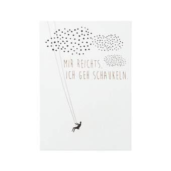 """Kleine Botschaften Postkarte """"Mir reicht's..."""""""