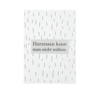 """Kleine Botschaften Postkarte """"Herzrasen"""""""