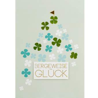 "Glücksklee Karte ""Bergeweise Glück"""