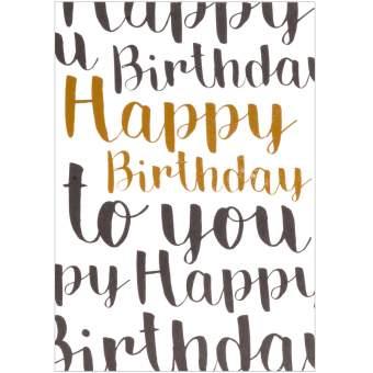 "Partykarte ""Happy Birthday"""