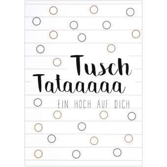 """Partykarte """"Tusch Tataaa"""""""