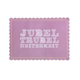 "Bunte Mischung Postkarte ""Jubel Trubel"""