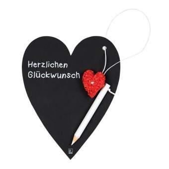 "Herz Tafel Karte ""Glückwunsch"""