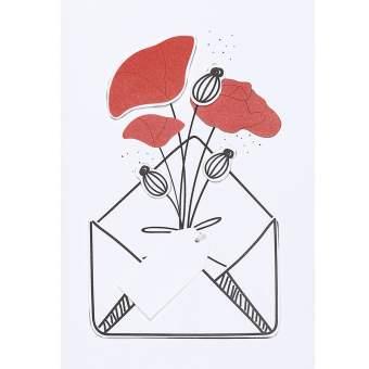 "Wiesenblumenkarte ""Mohn"""