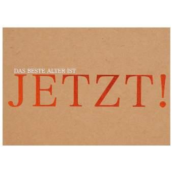 """Glanz Postkarte """"Jetzt"""""""