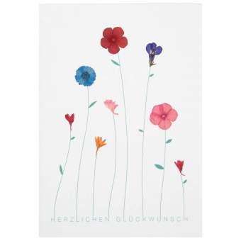 """Herzblüten Karte """"Herzlichen Glückwunsch"""""""
