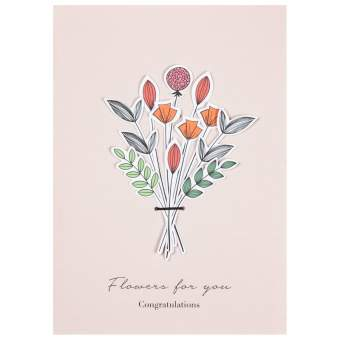 "Blumenstraußkarte ""Flowers for you"""