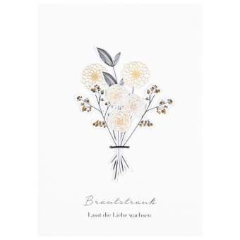 """Blumenstraußkarte """"Brautstrauß"""""""