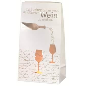 """Poesie et Table. Vino. Lichttüte """"Das Leben ist zu kurz..."""""""