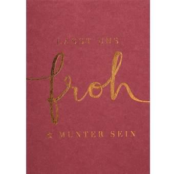 """Weihnachtspostkarte """"froh & munter"""""""