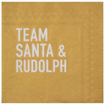 """Weihnachtsservietten """"Team Santa & Rudolph"""""""