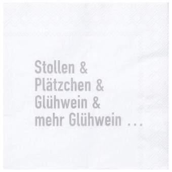 """Cocktailservietten """"Stollen & Plätzchen"""""""