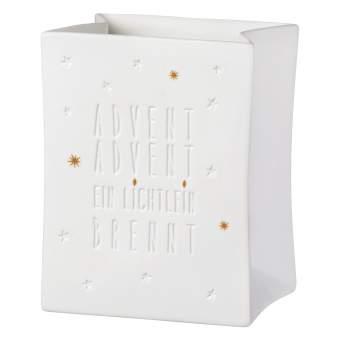 """Porzellanlichttüte """"Advent Advent"""""""