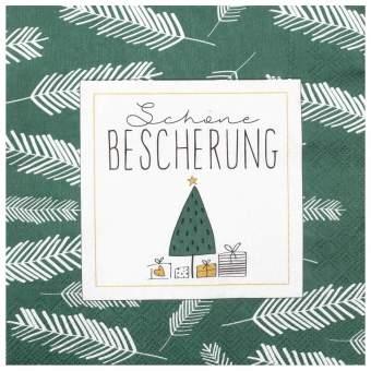 """Weihnachtsservietten """"Schöne Bescherung"""""""
