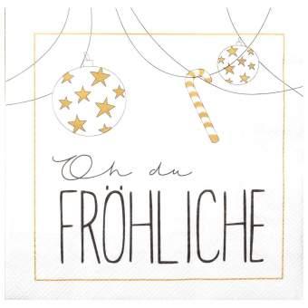 """Weihnachtsservietten """"Oh Du Fröhliche"""""""