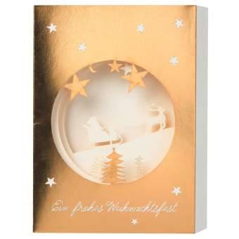 """Christmas Lasercut Karte """"Ein frohes Weihnachtsfest"""""""