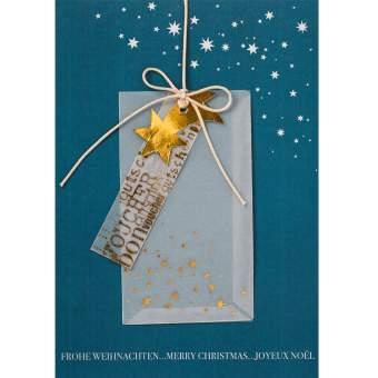 """Weihnachtskarte mit Gutschein """"Sternschnuppe"""""""