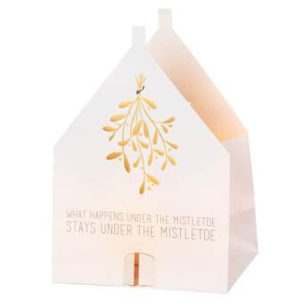 "Weihnachts Lichthauskarte ""Misteltoe"""