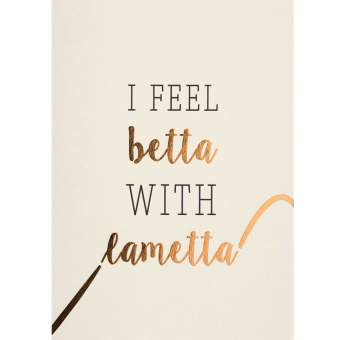 "Weihnachtspostkarte ""I feel betta with lametta"""