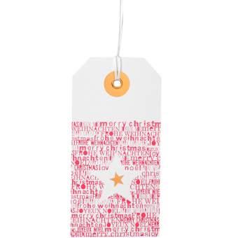 """Weihnachtshangtag Karte """"Stern"""""""