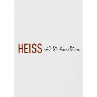 """Winterzeit Postkarte """"Heiss auf Weihanchten"""""""