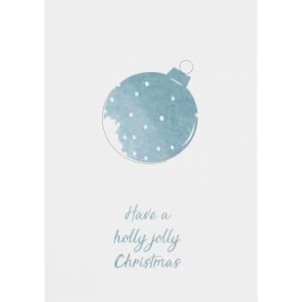 "Weihnachts Aquarell Postkarte ""Christbaumkugel"""