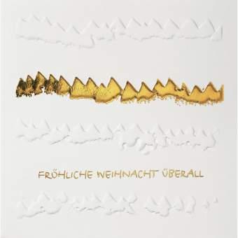 """Weihnachts Papierkunstkarte """"Fröhliche Weihnacht überall..."""""""