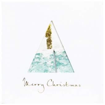 "Kugelkarte ""Merry Christmas"""