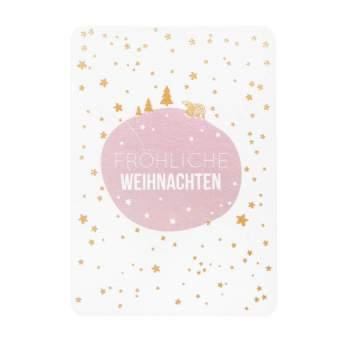 """Schneepostkarte """"Fröhliche Weihnachten"""""""