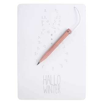 """Zeichnen & Zahlen Karte """"Hallo Winter"""""""