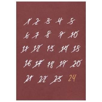 """100% Weihnachten Postkarte """"Countdown"""""""