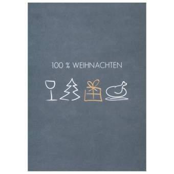 """100% Weihnachten Postkarte """"100% Weihnachten"""""""