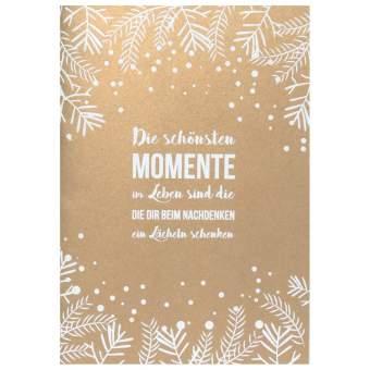"""Weihnachts Poesiekarte """"Die schönsten Momente"""""""