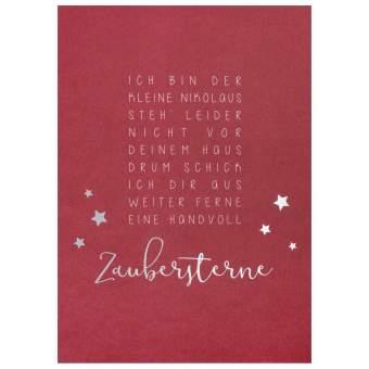 """Weihnachtspostkarte """"Bin der kleine Nikolaus"""""""