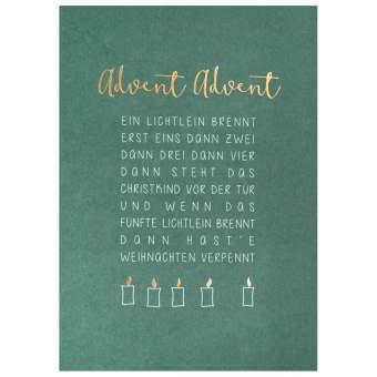"""Weihnachtspostkarte """"Advent Advent"""""""