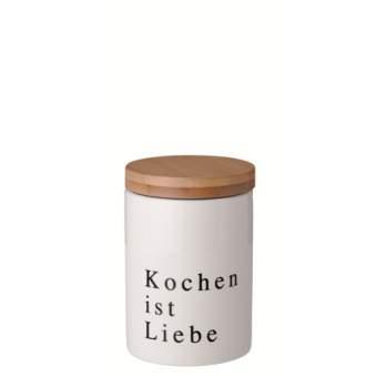 """Poesie et Table. Porzellandose """"klein: Kochen ist Liebe"""""""