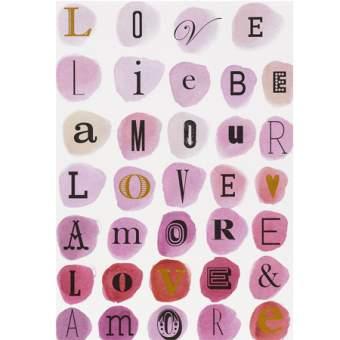 """Buchstaben Postkarte """"Liebe"""""""