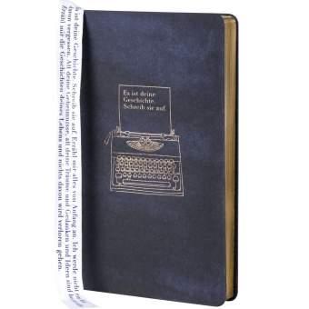 """Tintenblau. Notizbuch """"Schreibmaschine"""""""