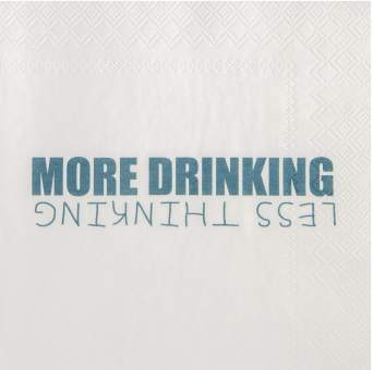 """Cocktailservietten """"More drinking"""""""