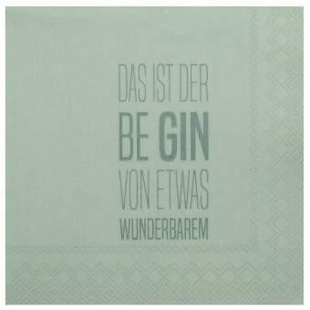 """Cocktailservietten """"Das ist der Be Gin"""""""