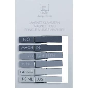 "Magnetklammern. Set aus 6 ""Set in grau"""