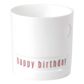 """Blumengruß. Lichtlein """"Happy Birthday"""""""