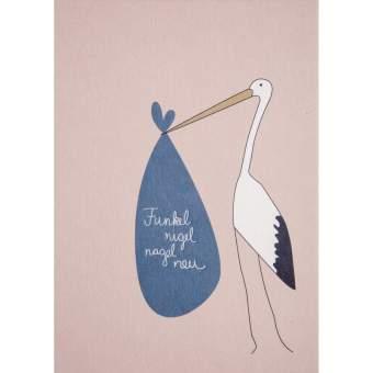 """Baby Postkarte """"Storch"""""""