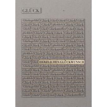 """Wörterkarte """"Glück"""""""
