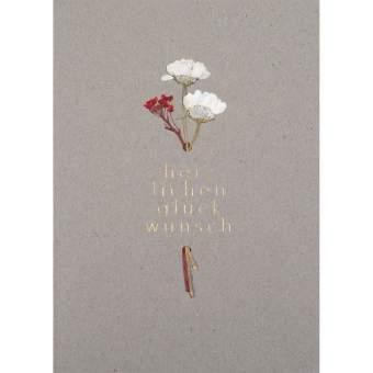 """Blütezeitkarte """"Herzlichen Glückwunsch"""""""