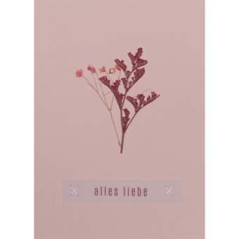 "Blumengruß. Glückwunschkarte ""Alles Liebe"""