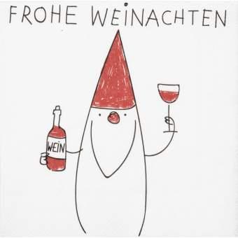 """Cocktailservietten """"Frohe Weinachten"""""""