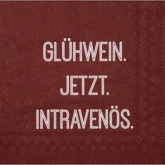 """Cocktailservietten """"Glühwein. Jetzt."""""""