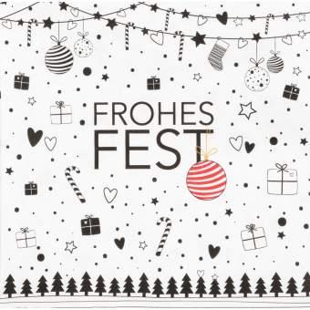 "Servietten ""Frohes Fest"""