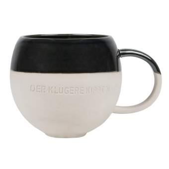 """Steinzeug. Tasse """"Der Klügere kippt nach"""""""